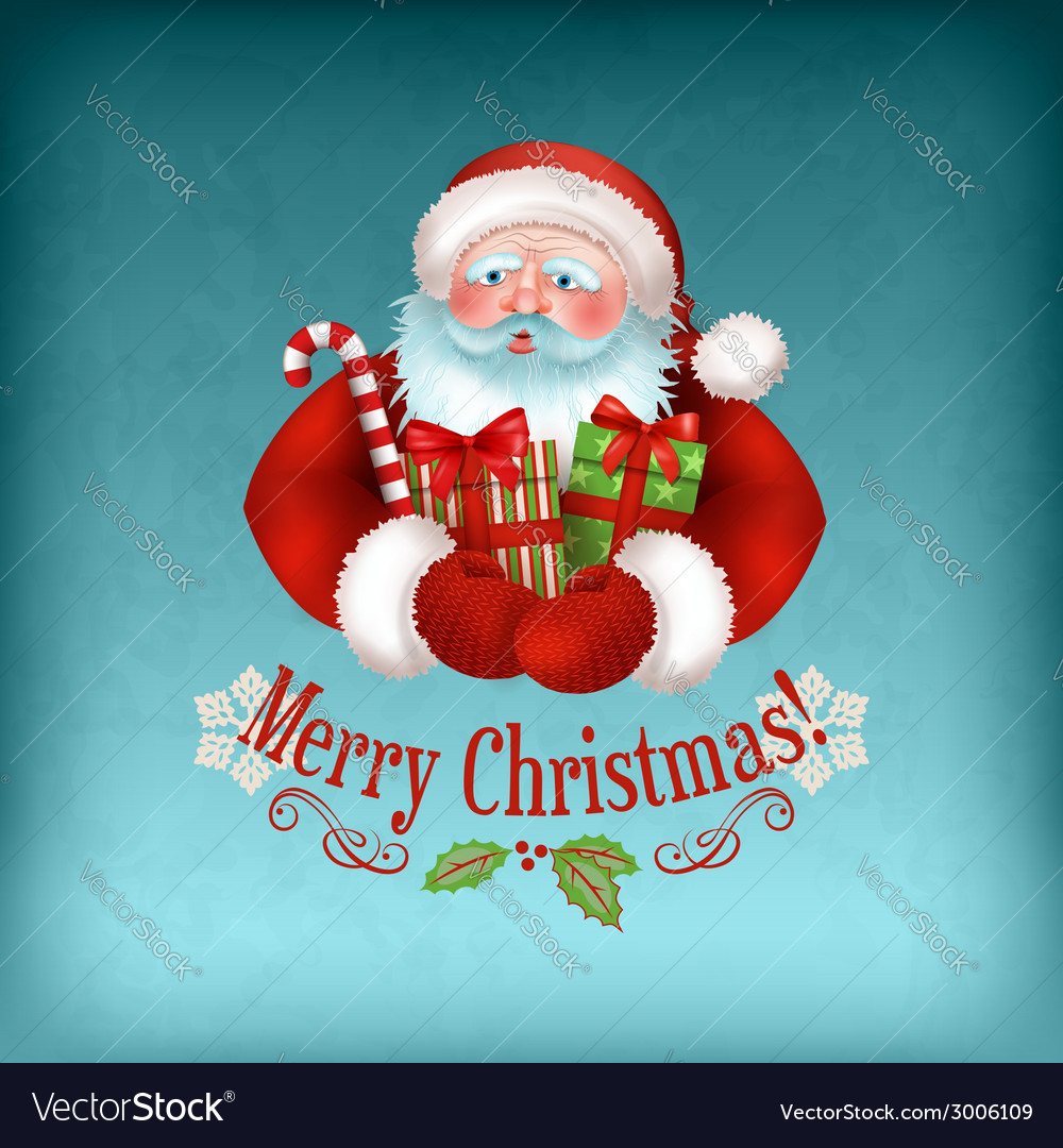 Santa claus carrying gifts vector | Price: 3 Credit (USD $3)