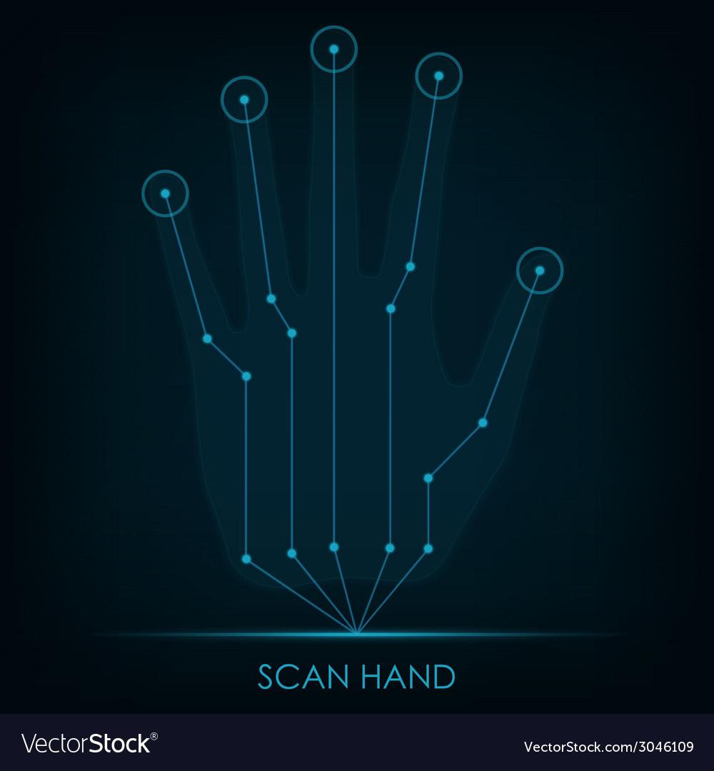 Scan hand vector | Price: 1 Credit (USD $1)