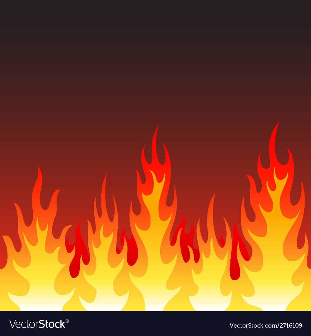 Seamless fire flame background vector | Price: 1 Credit (USD $1)
