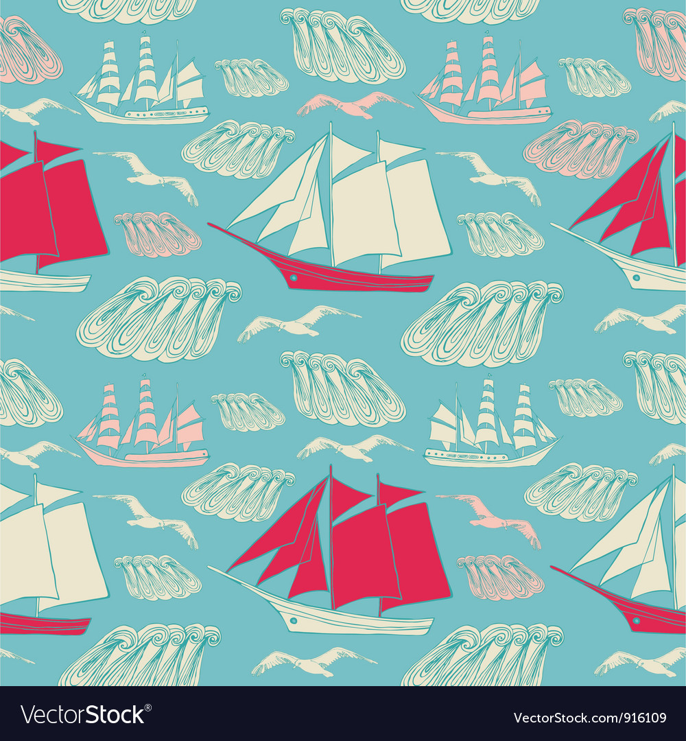 Voyage seamless background vector | Price: 1 Credit (USD $1)