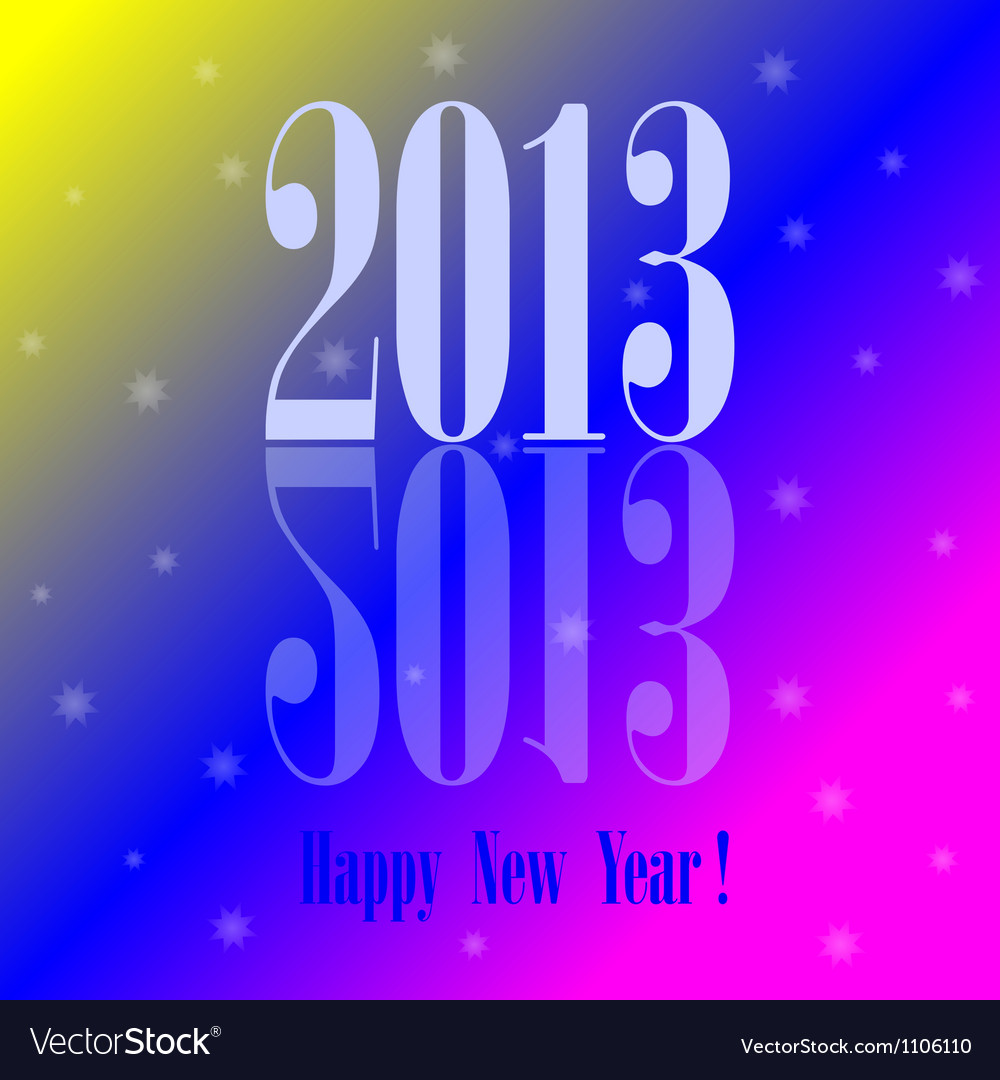 2013 - happy new year colorful background vector | Price: 1 Credit (USD $1)