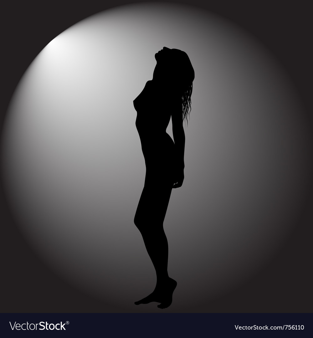 Black background with woman vector | Price: 1 Credit (USD $1)