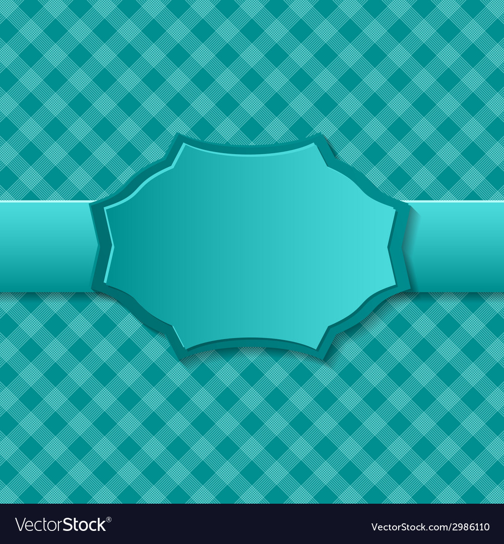 Blue paper background with badge in the center vector | Price: 1 Credit (USD $1)