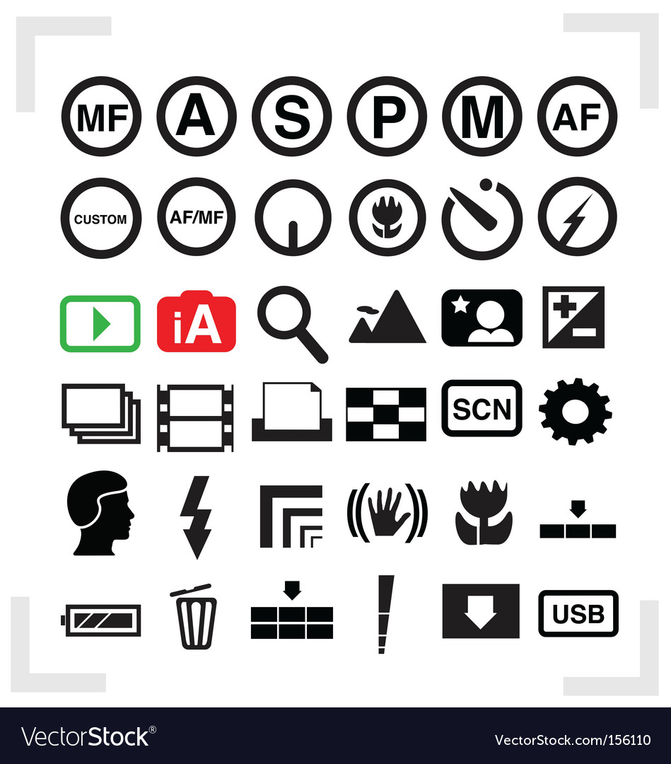 Camera icons vector | Price: 1 Credit (USD $1)