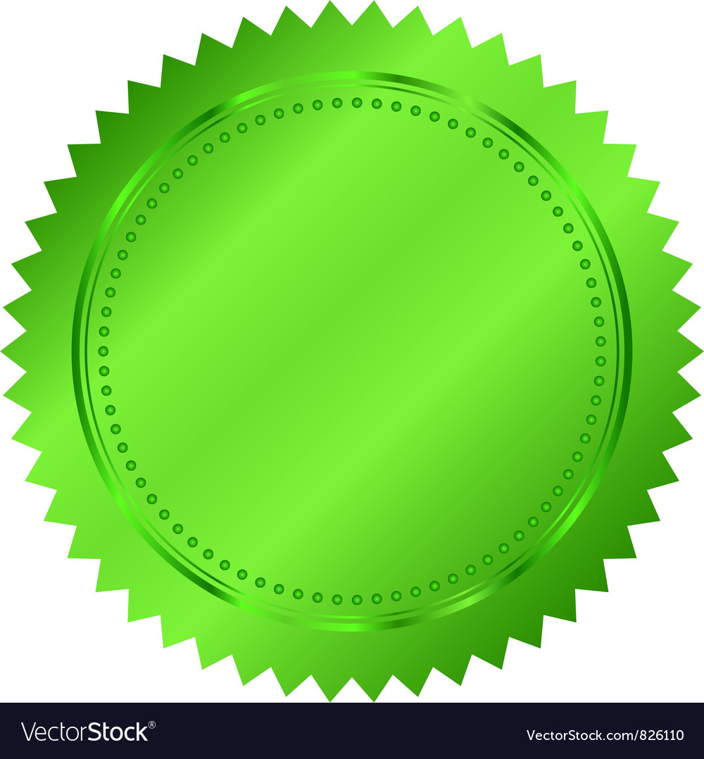 Green seal vector | Price: 1 Credit (USD $1)