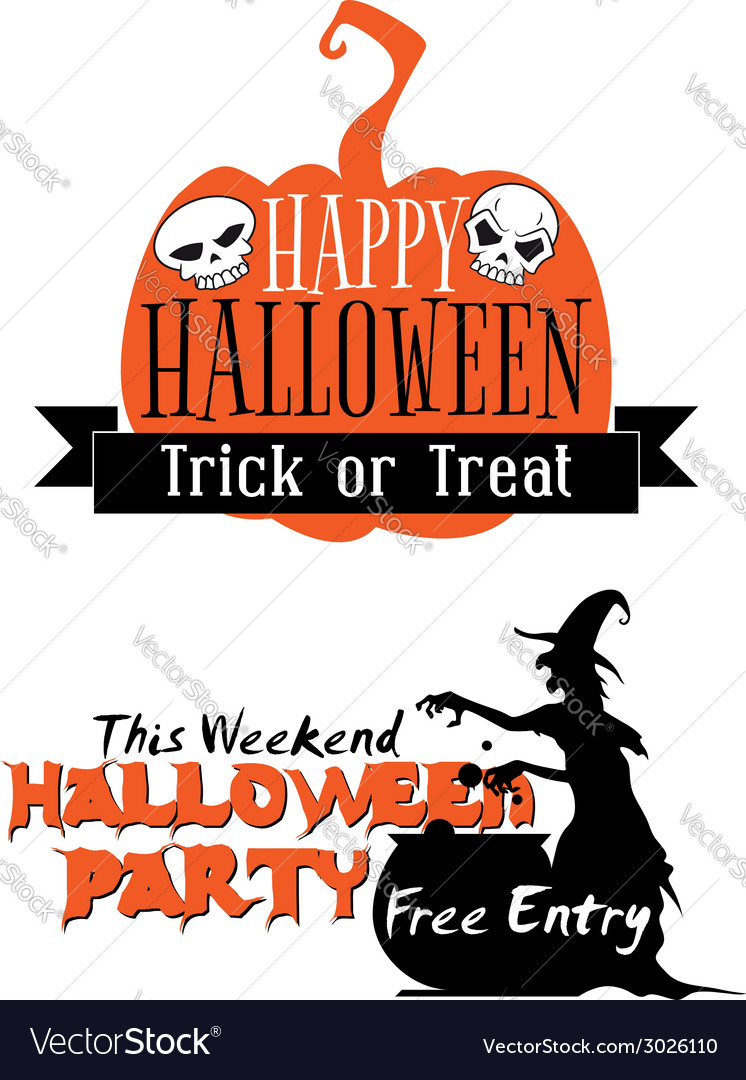 Halloween holiday invitation vector | Price: 1 Credit (USD $1)