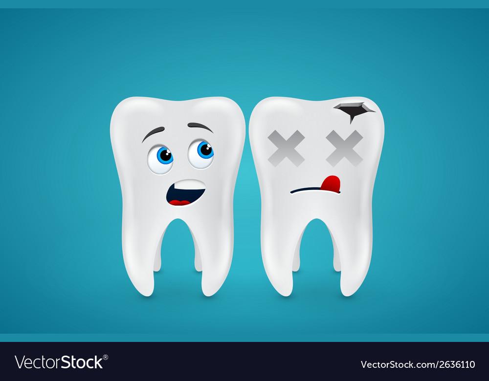 Healthy teeth and dead vector | Price: 1 Credit (USD $1)