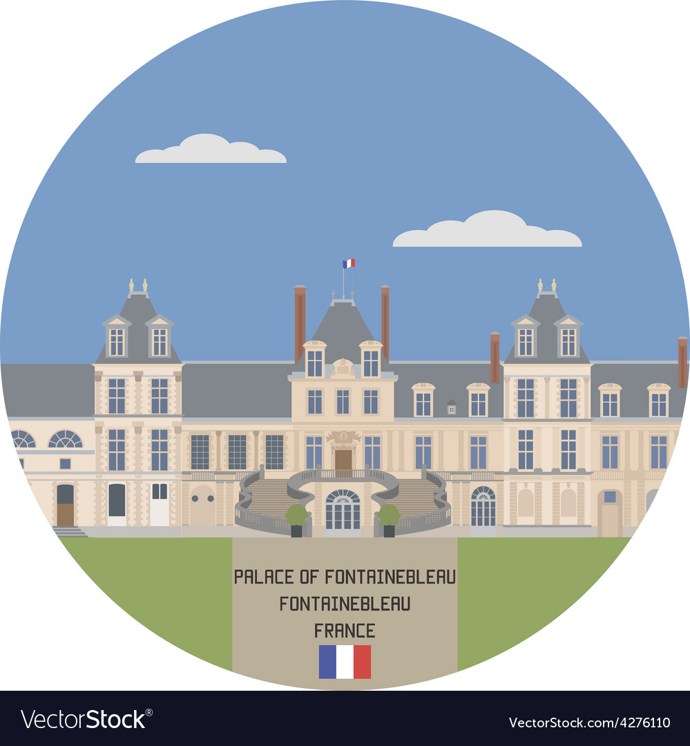 Palace of fontainebleau vector | Price: 1 Credit (USD $1)