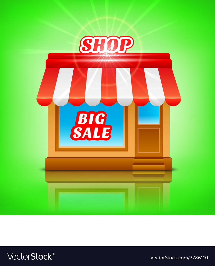 Shop icon big sale vector | Price: 1 Credit (USD $1)