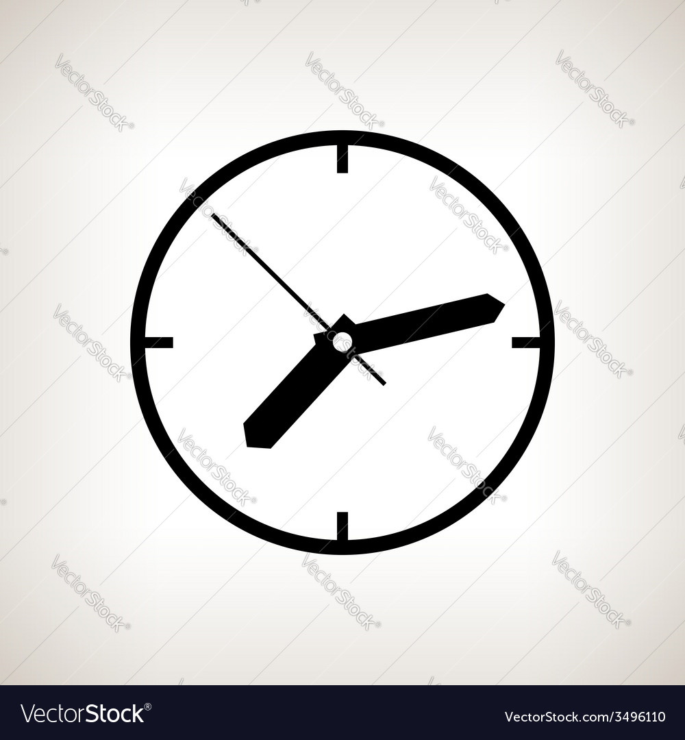 Silhouette watch on a light background vector | Price: 1 Credit (USD $1)