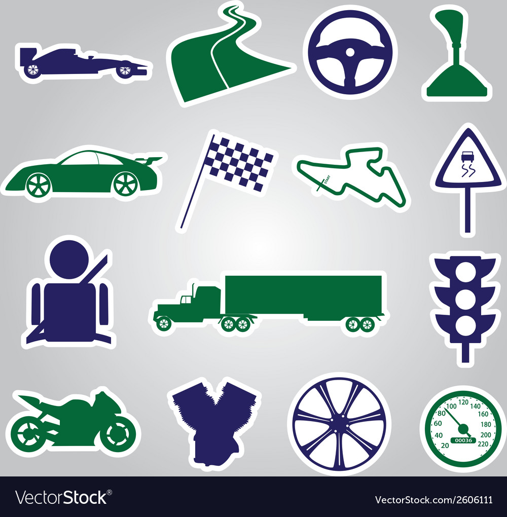 Automotive stickers collection eps10 vector | Price: 1 Credit (USD $1)