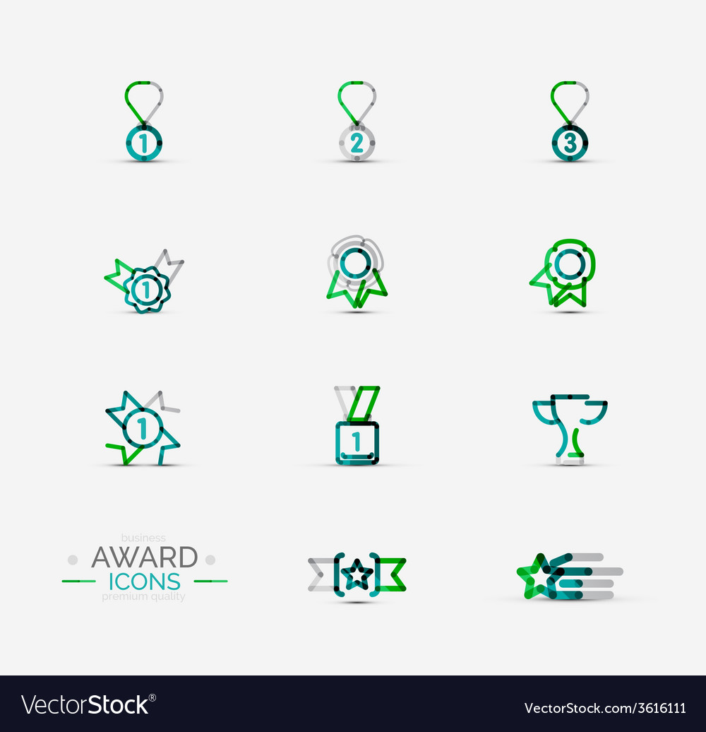 Award icon set logo collection vector | Price: 1 Credit (USD $1)