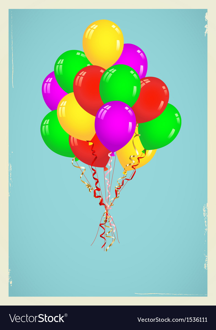 Background with colorful balloons vector   Price: 1 Credit (USD $1)