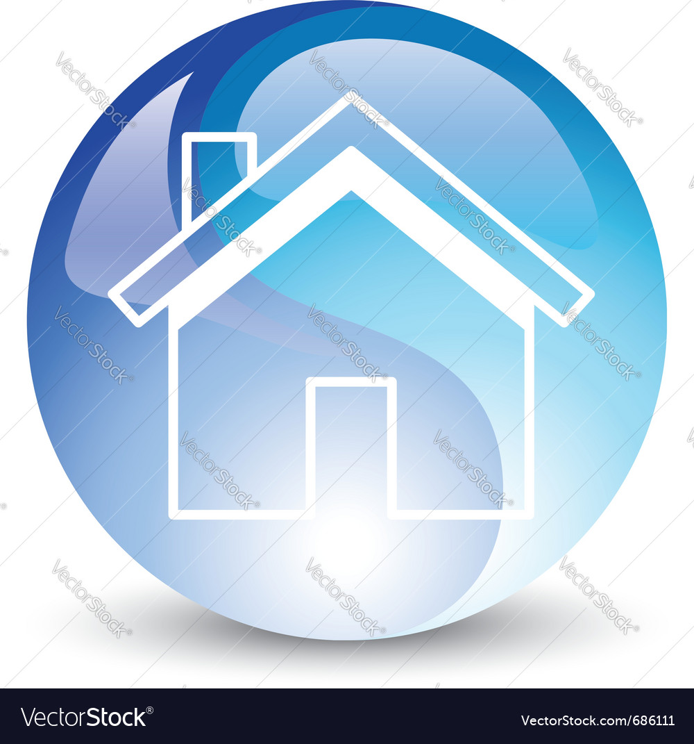 Blue house vector | Price: 1 Credit (USD $1)