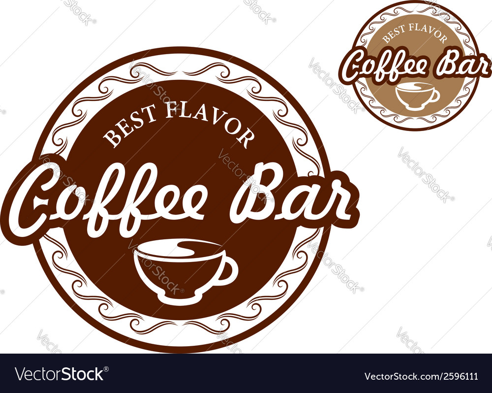 Coffee bar signs vector | Price: 1 Credit (USD $1)