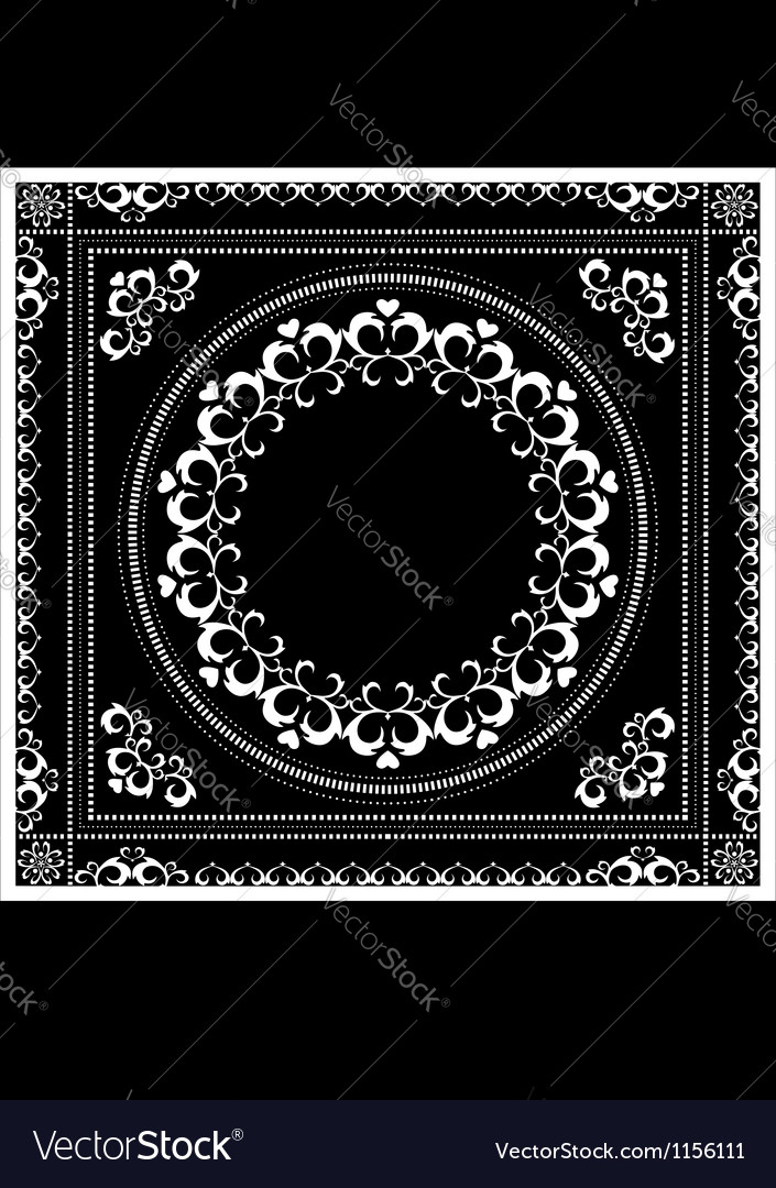 Decorative pattern frame for napkin vector | Price: 1 Credit (USD $1)