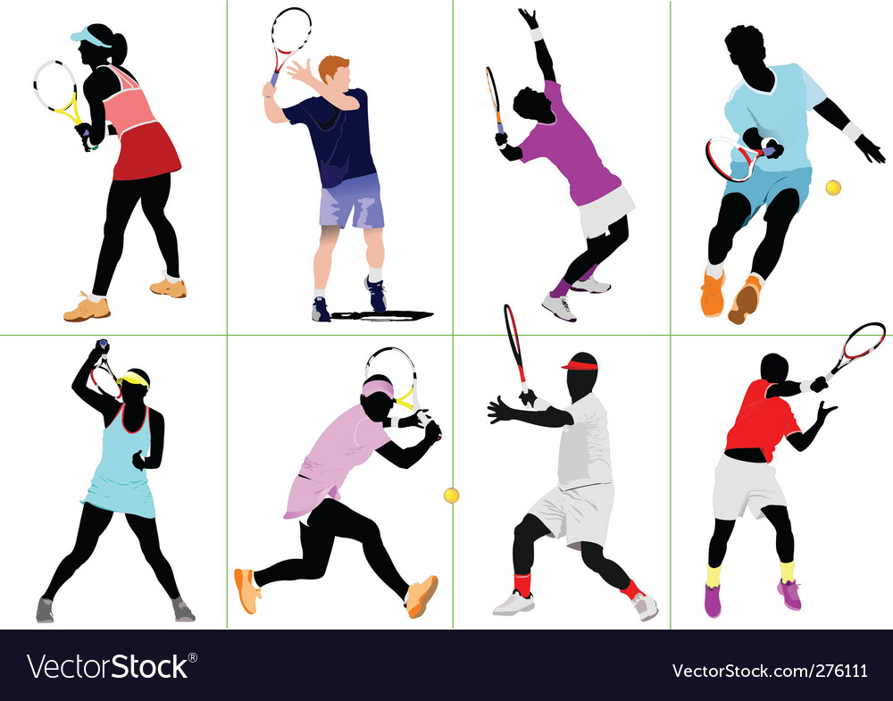 Eight tennis vector | Price: 1 Credit (USD $1)