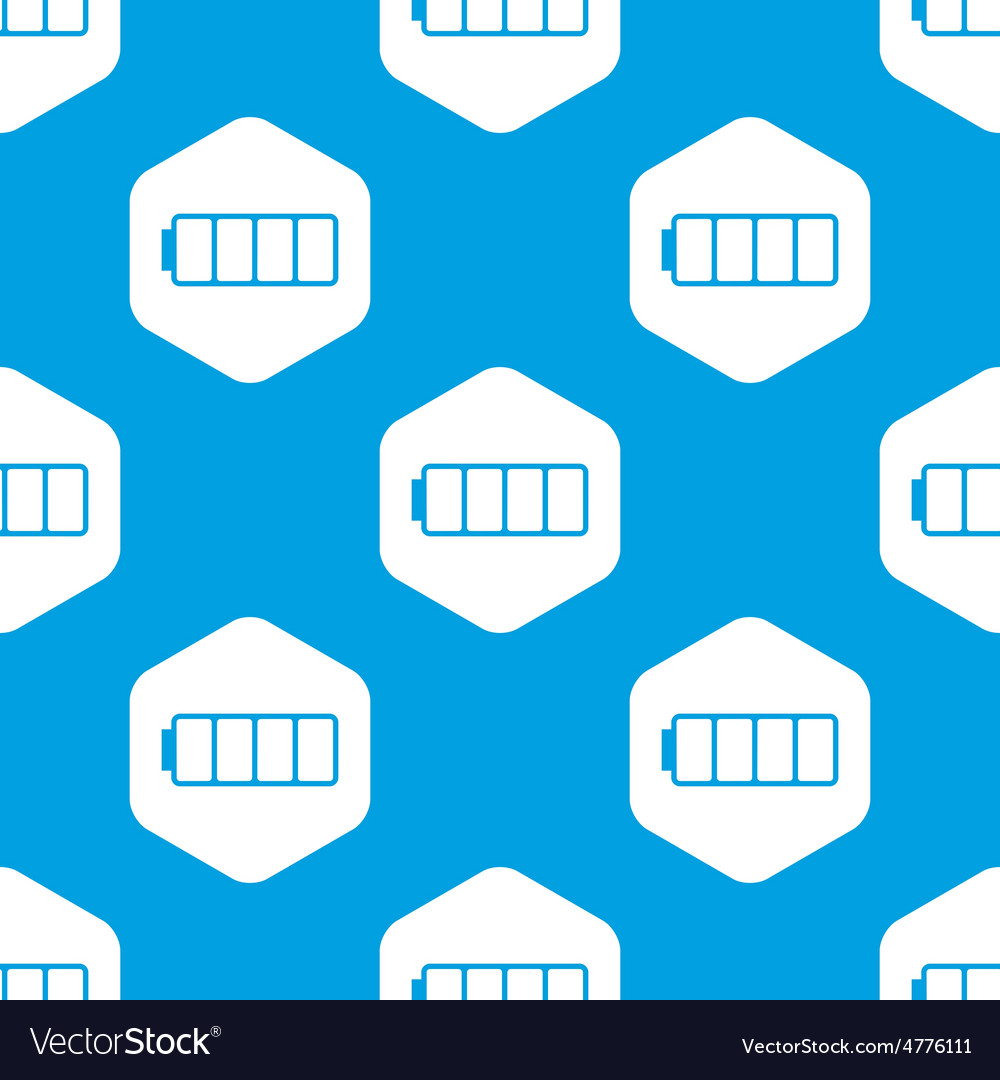 Empty battery hexagon pattern vector | Price: 1 Credit (USD $1)