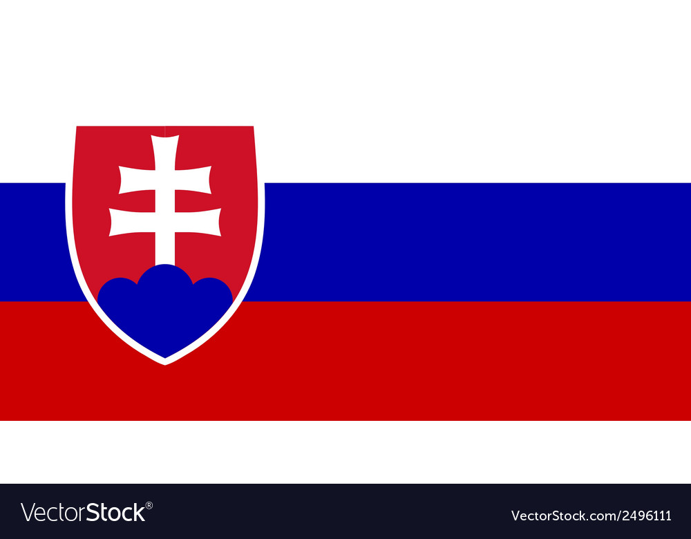 Flag of slovakia vector | Price: 1 Credit (USD $1)
