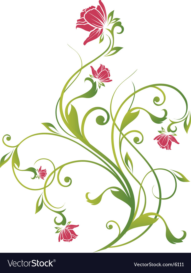 Floral vine graphic vector | Price: 1 Credit (USD $1)
