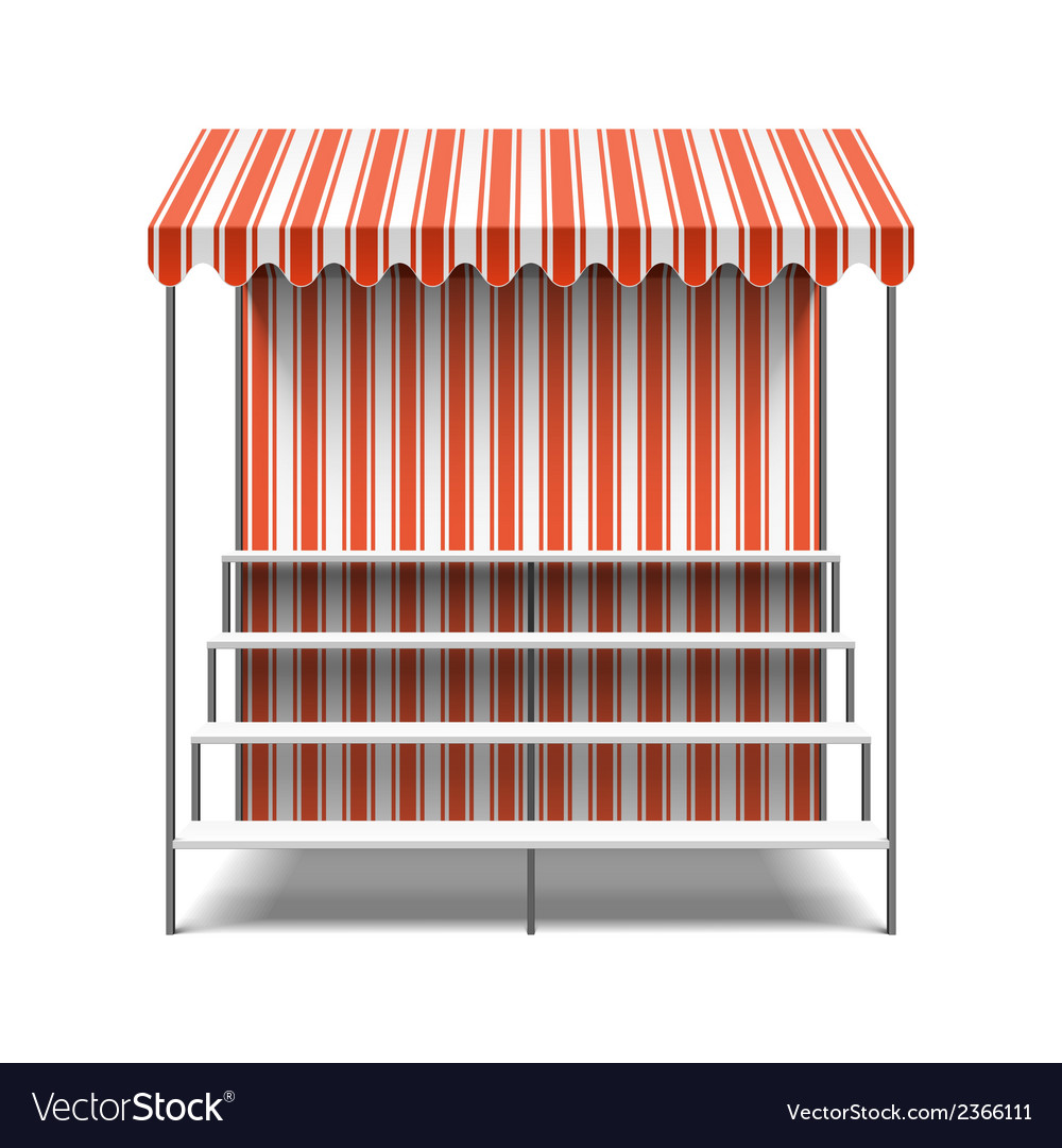 Flower market stall vector | Price: 1 Credit (USD $1)