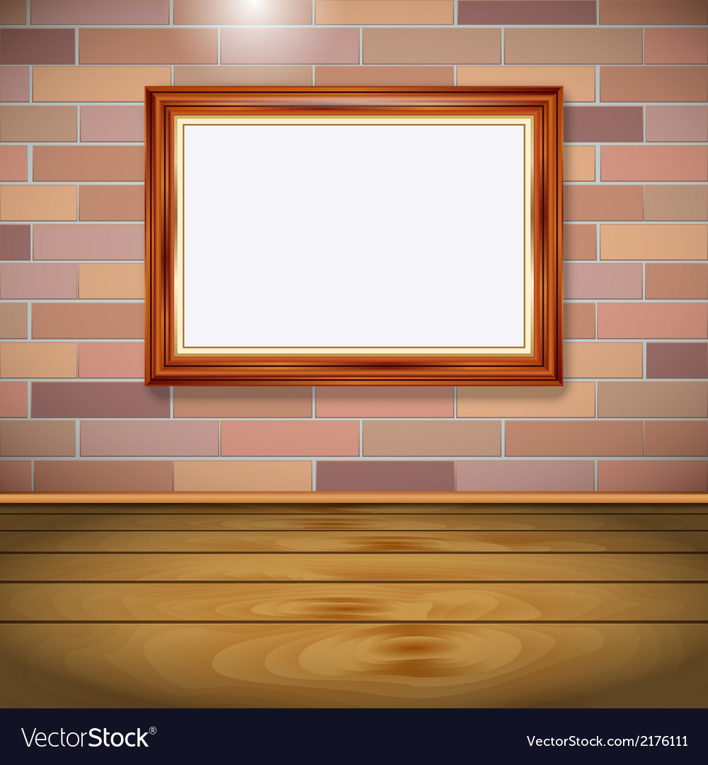Interior with empty frame vector | Price: 1 Credit (USD $1)