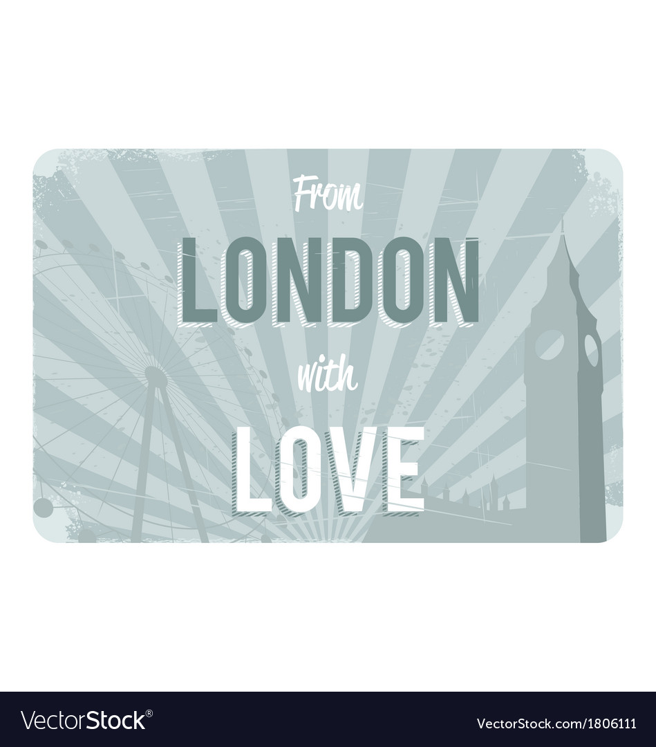 London postcard design vector | Price: 1 Credit (USD $1)