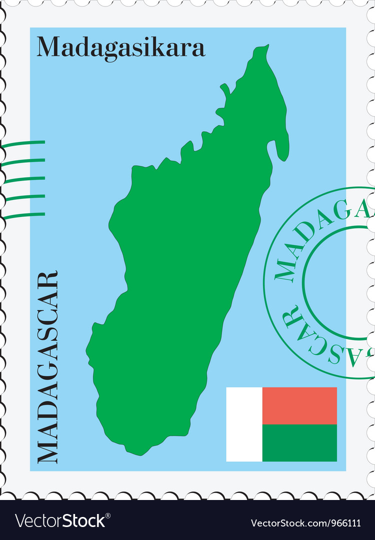 Mail to-from madagascar vector | Price: 1 Credit (USD $1)