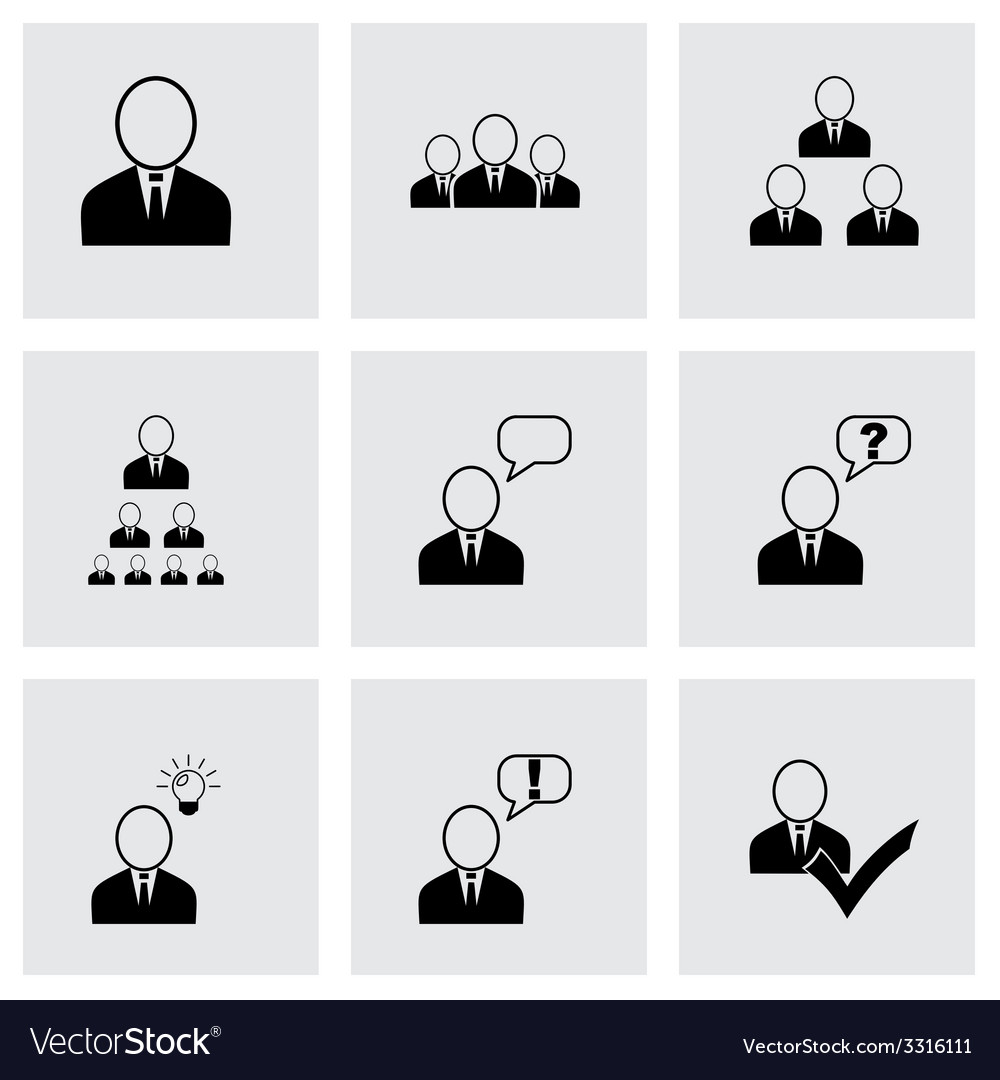 Office people icon set vector   Price: 1 Credit (USD $1)