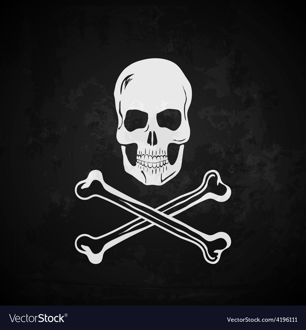 Pirate flag skull with crossed bones vector | Price: 1 Credit (USD $1)