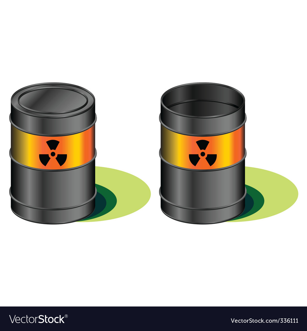 Radioactive barrels with leak vector | Price: 1 Credit (USD $1)