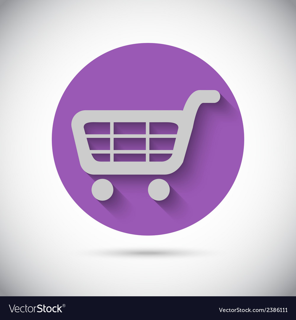 Shopping cart trolley flat icon vector | Price: 1 Credit (USD $1)