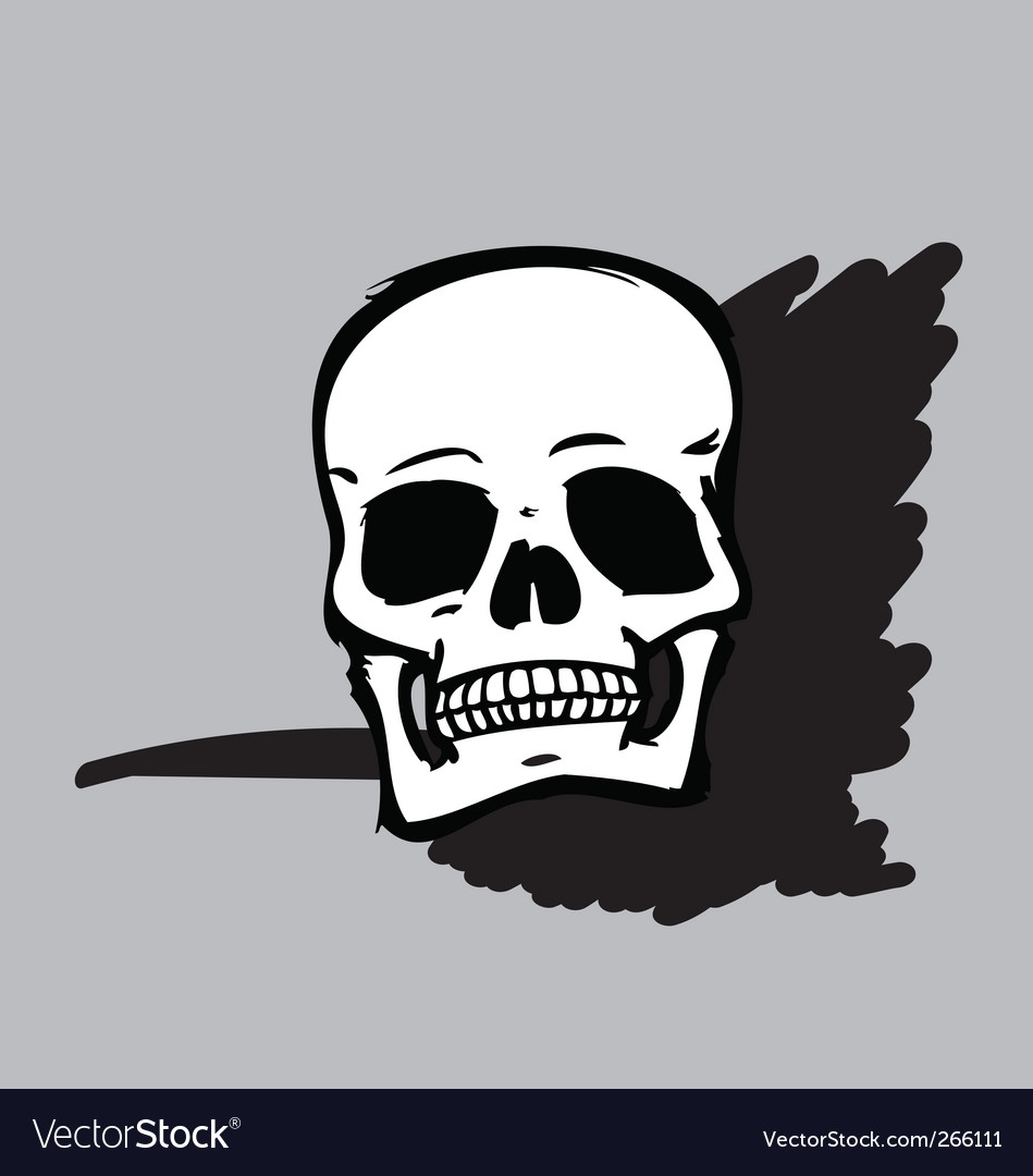 Skull b&w vector | Price: 1 Credit (USD $1)