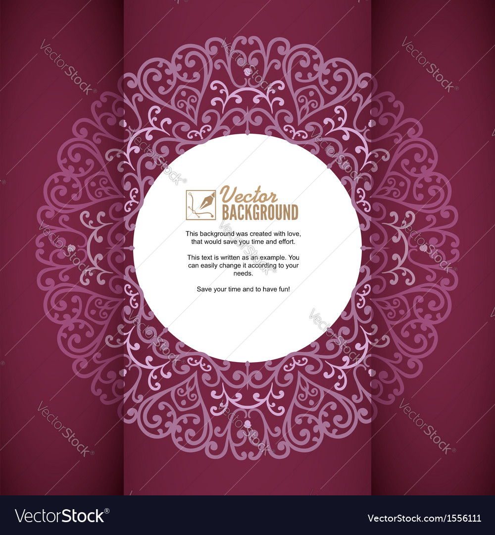 Vintage background greeting card invitation with vector | Price: 1 Credit (USD $1)