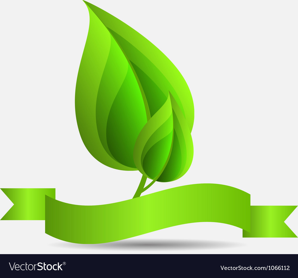Abstract nature green background vector | Price: 1 Credit (USD $1)