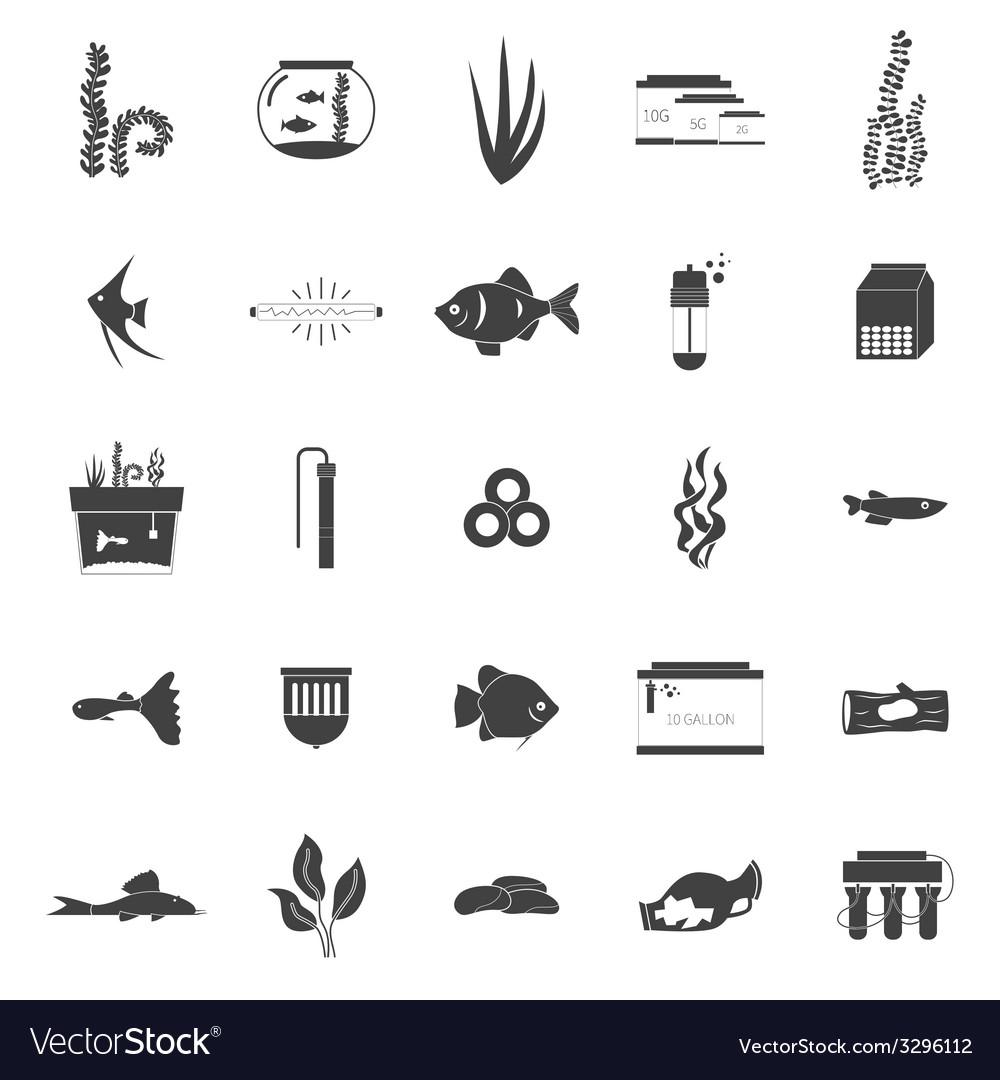 Aquarium icons vector | Price: 1 Credit (USD $1)