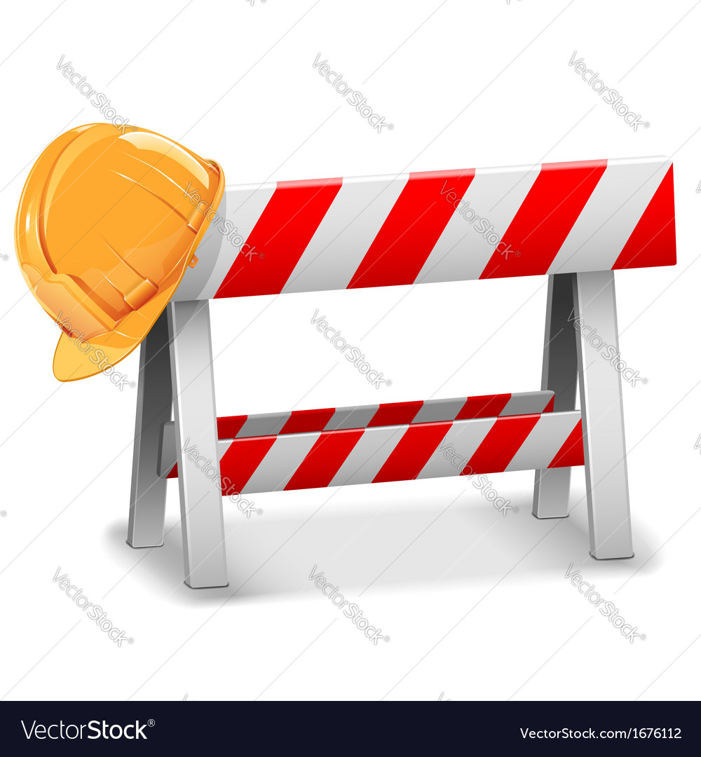 Barrier with helmet vector | Price: 1 Credit (USD $1)