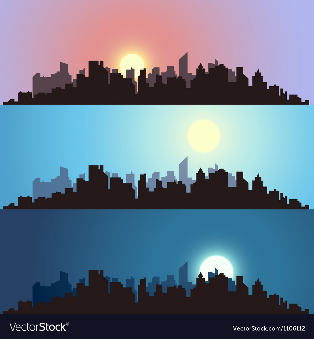 Cityscape backgrounds vector | Price: 1 Credit (USD $1)