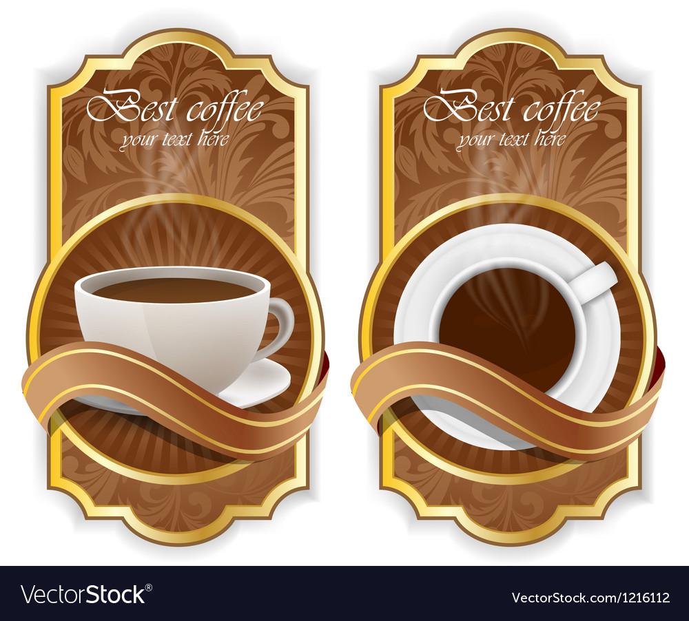 Coffee label vector   Price: 3 Credit (USD $3)