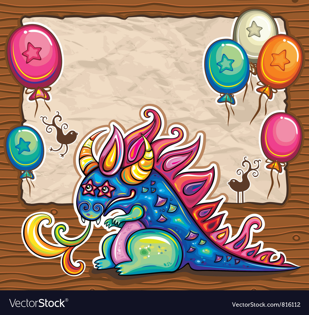 Cute dragon vector | Price: 3 Credit (USD $3)