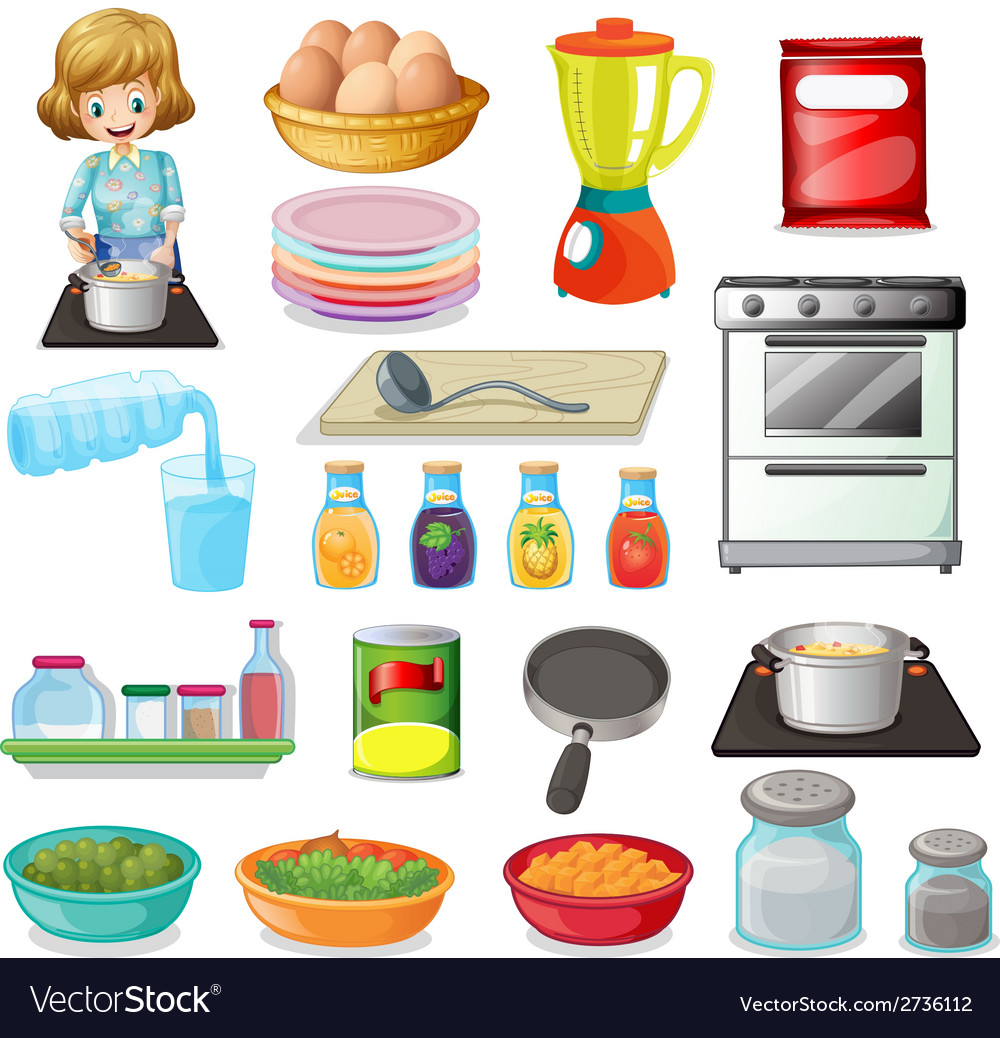 Food and kitchenware vector | Price: 1 Credit (USD $1)