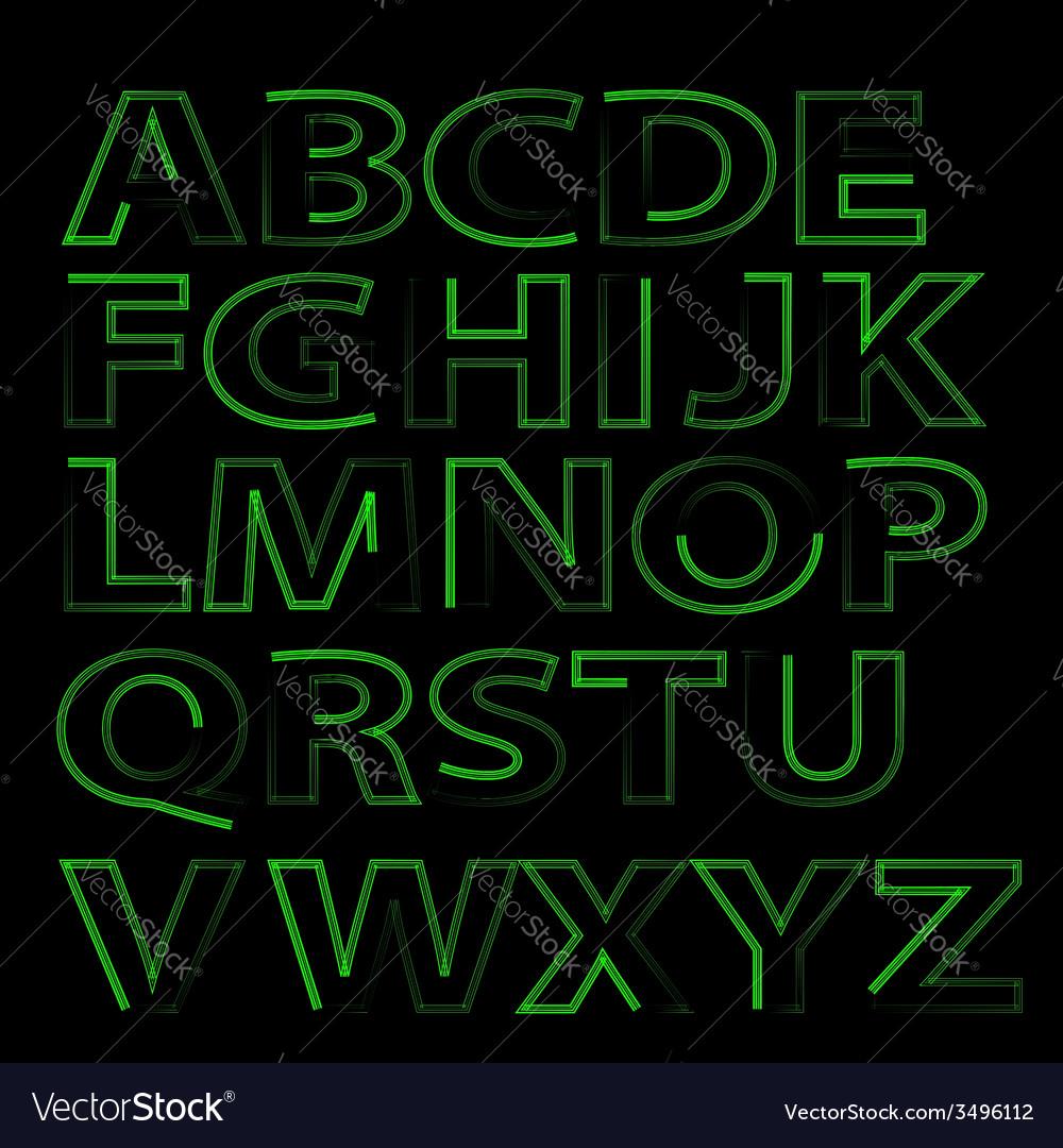Green alphabet vector | Price: 1 Credit (USD $1)