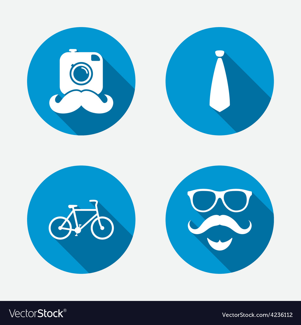Hipster photo camera icon glasses symbol vector | Price: 1 Credit (USD $1)