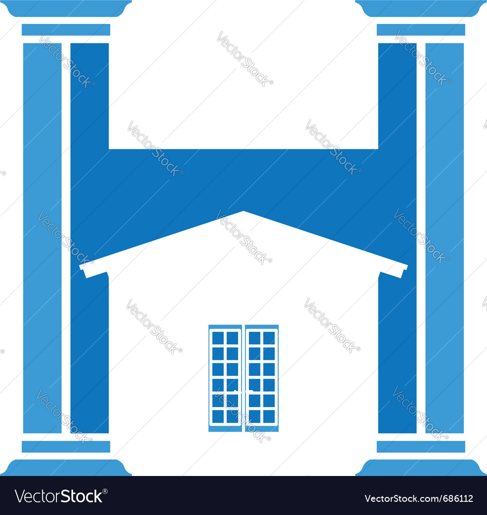 House column vector | Price: 1 Credit (USD $1)