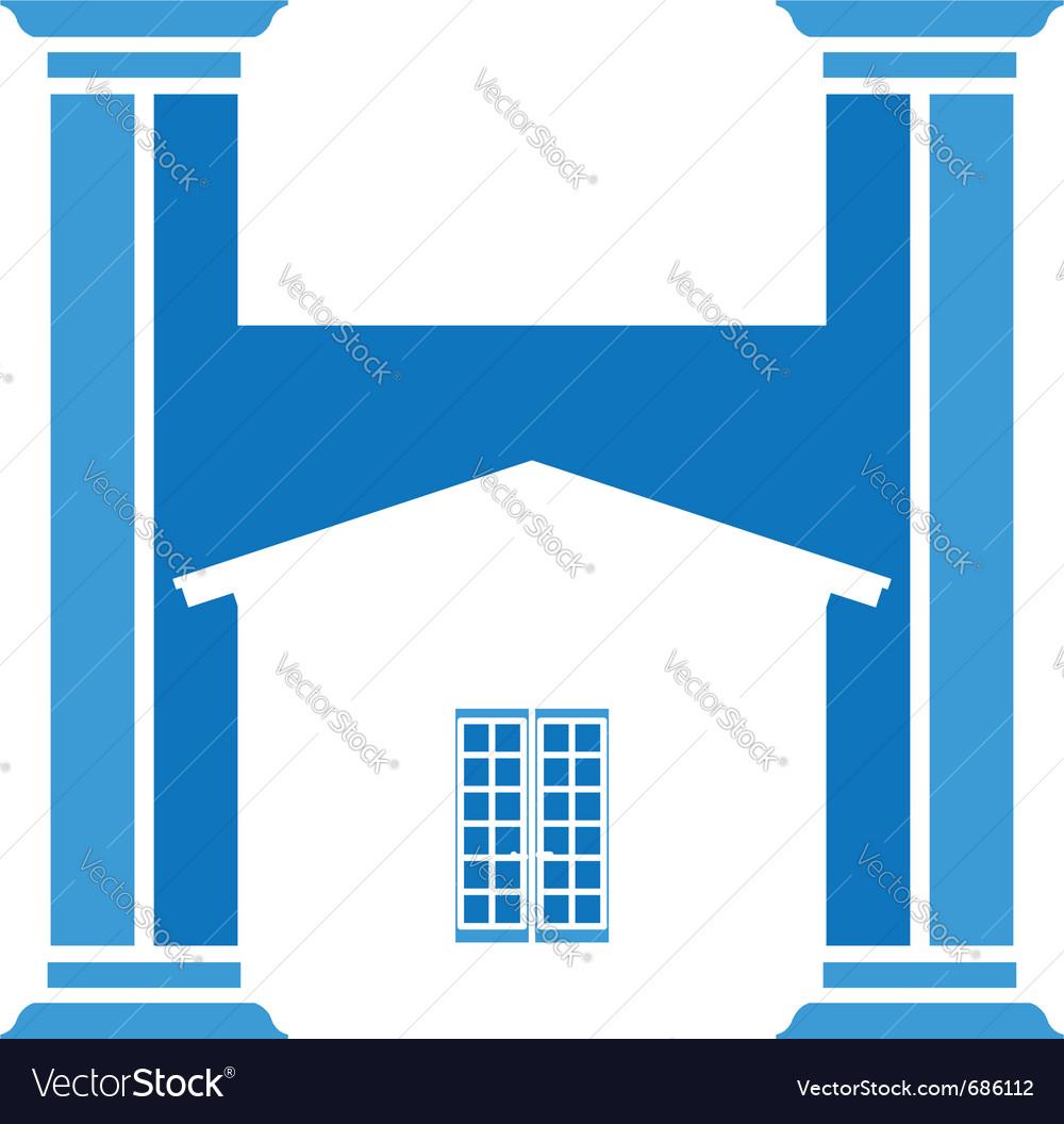 House column vector | Price: 1 Credit (USD $1)