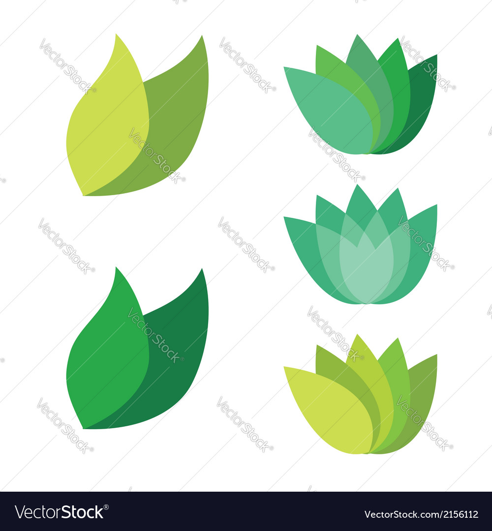 Leaf pair icon on both solid vector | Price: 1 Credit (USD $1)