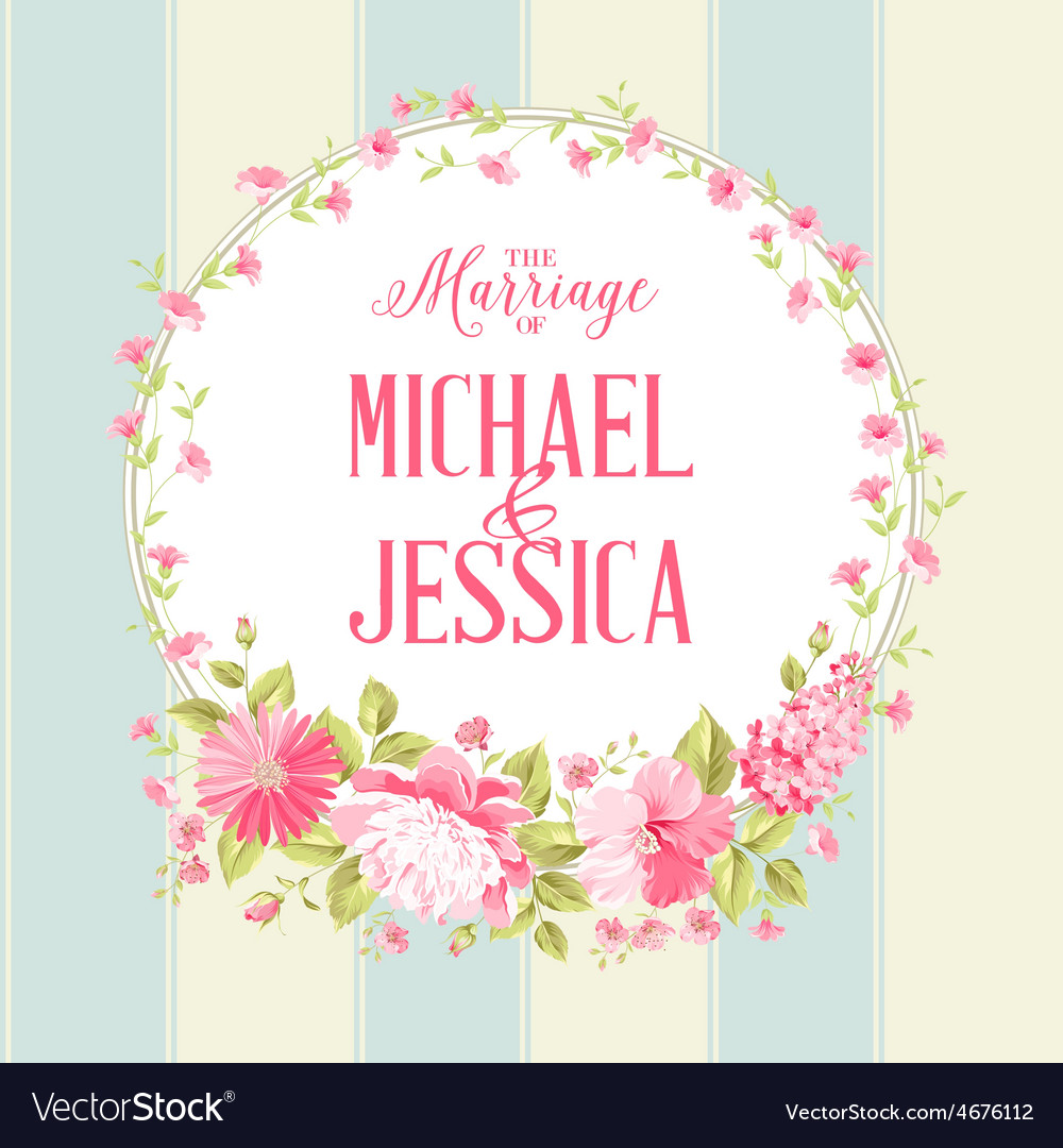 Luxurious marriage card vector | Price: 1 Credit (USD $1)