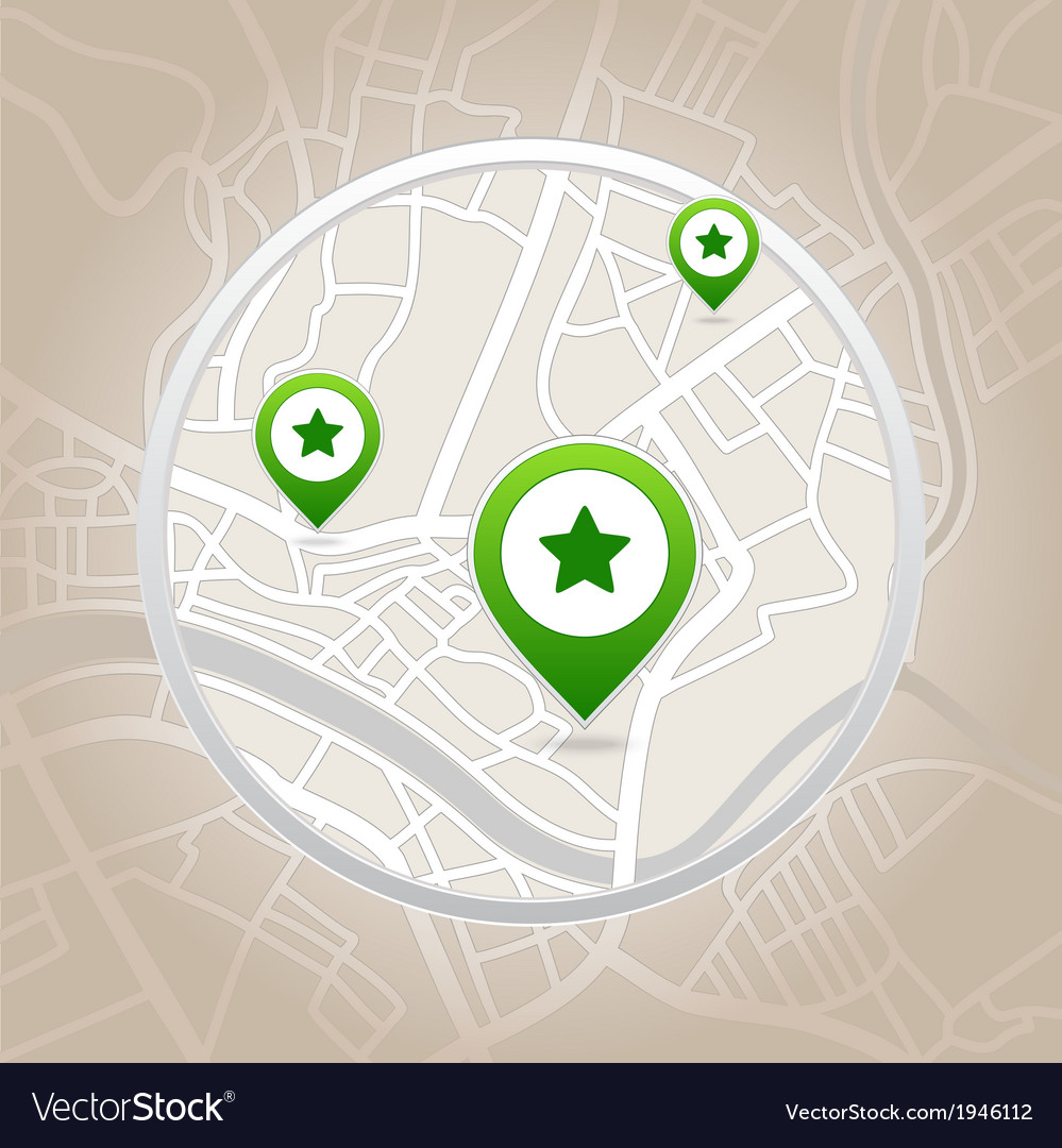 Map pointer with heart icon vector | Price: 1 Credit (USD $1)