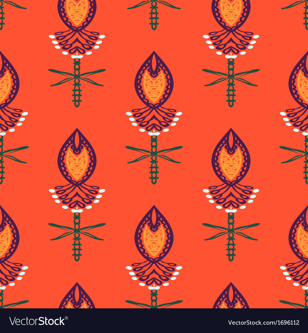 Pattern with bold stylized indian motifs vector | Price: 1 Credit (USD $1)