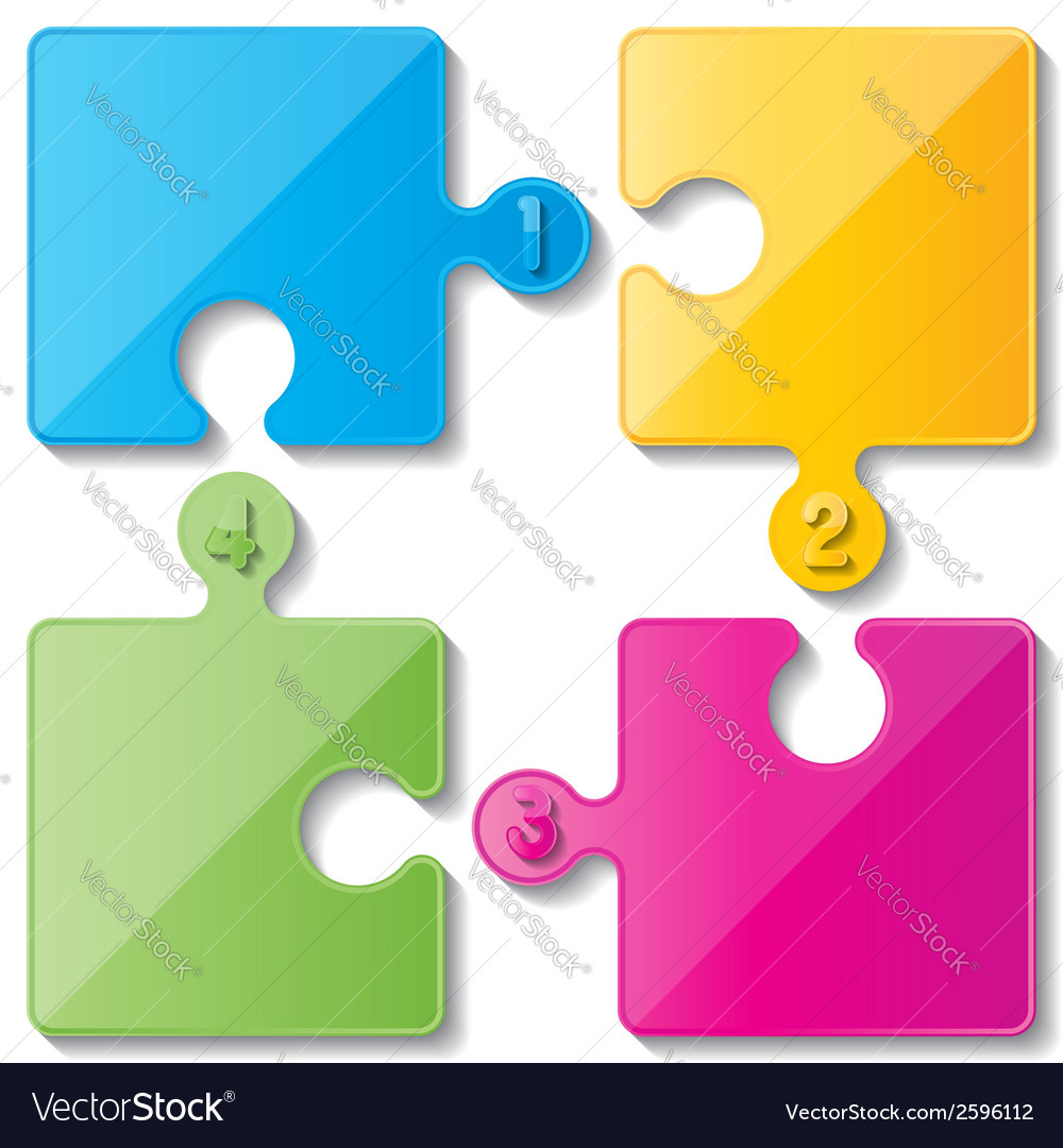Puzzle infoghaphics vector | Price: 1 Credit (USD $1)